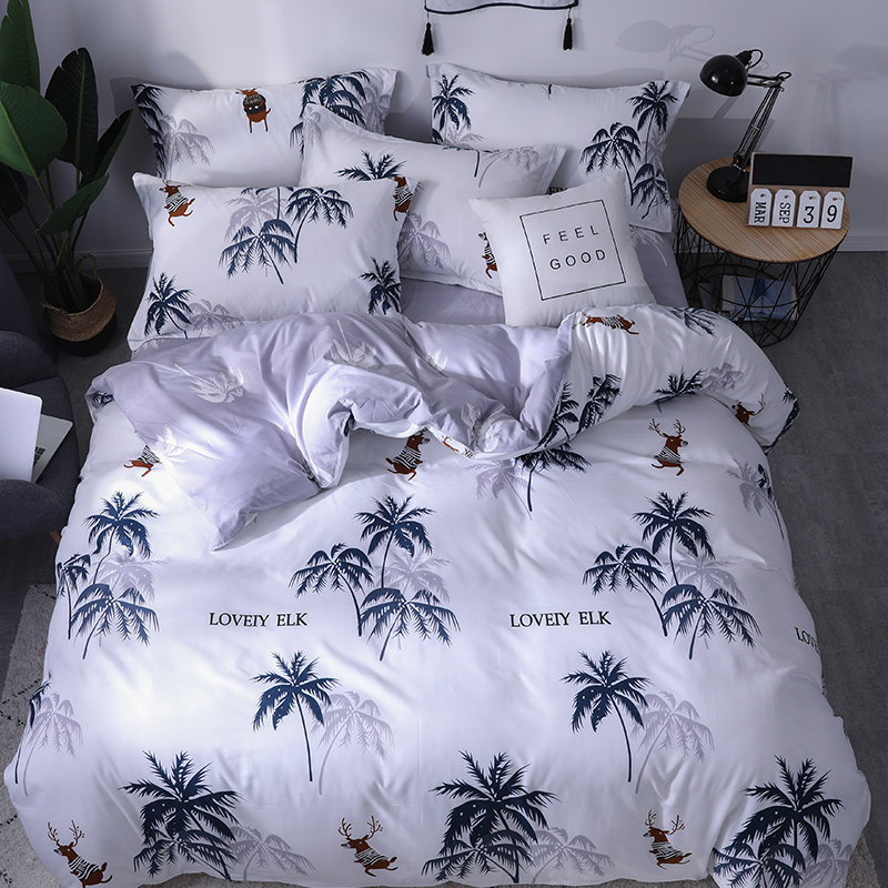 Luxury Bedding Set The Letter Printing Duvet Cover Sets Bed Pillowcases Sheet Set King Size Queen Size Set