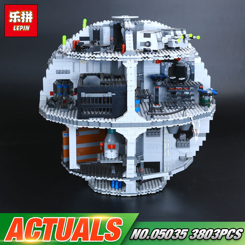 New Free Shipping LEPIN 05035 Death 3804pcs Star Building Block Bricks Educational Toys Kits Compatible with 10188 lepin 05035 star wars death star limited edition model building kit millenniums blocks puzzle compatible legoed 75159