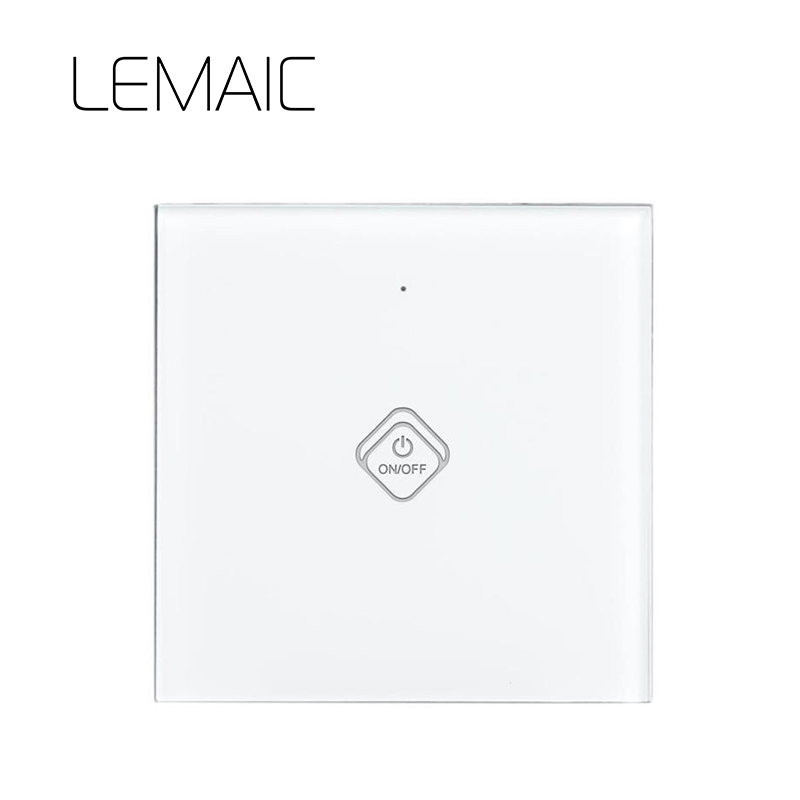 LEMAIC EU Stanard Touch Switch White Crystal Glass Panel 1 Gang 1 Way Touch Switch Light Wall Touch Screen Switch AC 170-250V touch switch 2 way 1 gang black white crystal glass switch panel wall light touch screen switch 110 220v ac hot