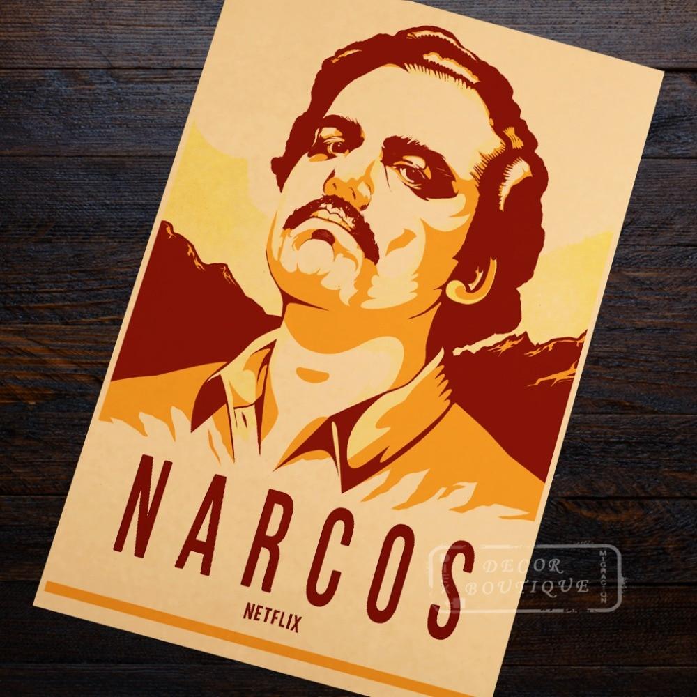 StickerClassic Portrait Narcos Colombia Pablo Escobar Crime TV ...