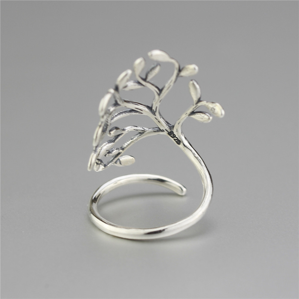 925 Sterling Silver Drop Glaze Leaves Open Rings Za - Modni nakit - Foto 5