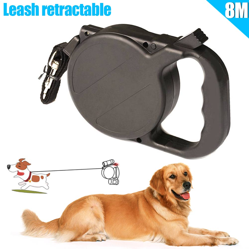 Hot Sale 8m/26ft Dog Collar Leash Automatic Retractable Puppy Patrol Rope Walking Leads Traction Pet Supplies