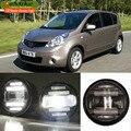 eeMrke Car Styling For Nissan Note 2006-2013 EU 2in1 Multifunction LED Fog Lights DRL With Lens Daytime Running Lights