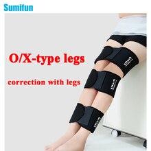 3 In1 Довольно Женщины Легкие Кривые Эластичный Бинт Бедра О-типа Ноги X-type ноги правильно Ортопедических Взрослых лента Корректор Осанки C734