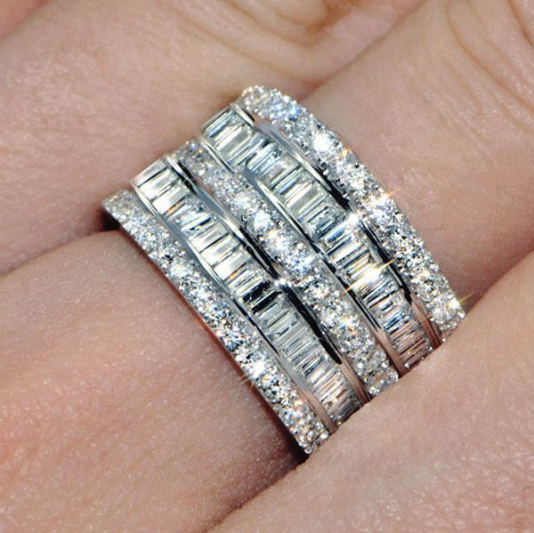 Luxury Female Small Zircon Stone Ring 925 Silver Wedding Jewelry Promise Engagement Rings For Women 2019