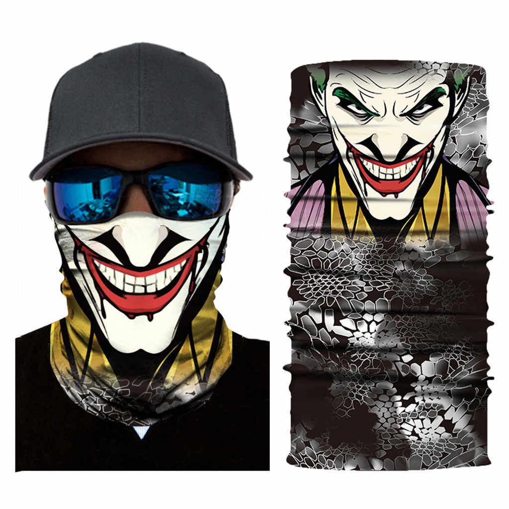 3D Seamless Balaclava Magic Scarf Neck Face Mask Ghost Skeleton Head Bandana Shield Headband Headwear Cycling Motorcycle #30