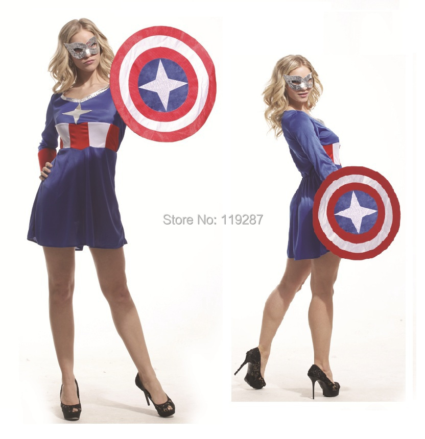 NEW Captain costume Women adult cosplay sexy dress halloween costume for women wholesale-in Movie u0026 TV costumes from Novelty u0026 Special Use on Aliexpress.com ...  sc 1 st  AliExpress.com & NEW Captain costume Women adult cosplay sexy dress halloween costume ...