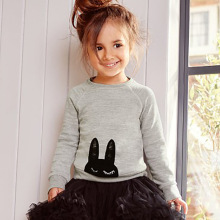 Kids Clothes Girls Long Sleeve Sweatshirt Baby 2017 Autumn Trendy Girls Top Tees Animal Pattern Children Clothing for Kids 1-6Y