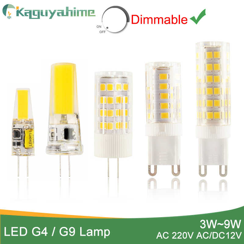 Kaguyahime 1pcs/5pcs LED Lamp G9 G4 led bulb Dimmabl AC/DC 12V 220V 3W 6W 10W COB SMD LED G4 G9 replace Halogen Light Chandelier