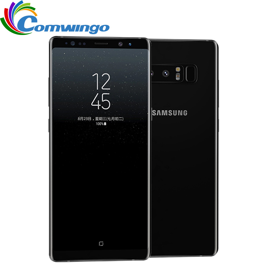 Original Unlocked Samsung Galaxy Note 8 6GB RAM 64GB ROM Dual Back Camera 12MP 6.3inch Octa Core 3300mAh Smart Mobile Phone