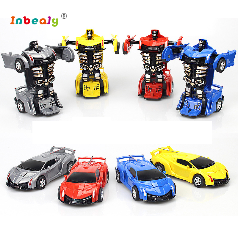 Transformation Robots RC Car Sports Car Models Collision Deformation Classic Car RC Robots Kids Toys Children's Birthday Gifts