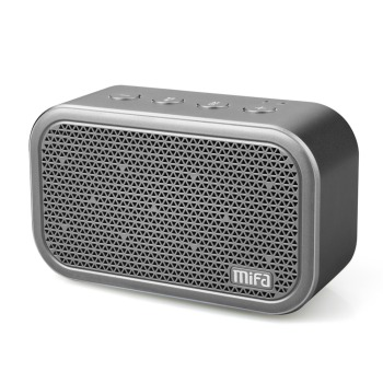mifa m1 portable wireless bluetooth speaker with built-in microphone stereo rock sound for outdoors and tf card support