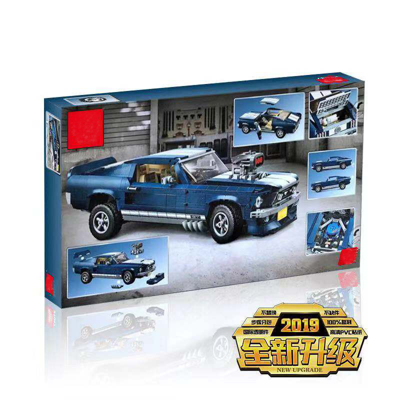 2019 NEW 1648pcs Creator Expert Ford Mustang 1967 Model Building Blocks Bricks Set Toys Compatible LegoINGlys 10265 Technic Car
