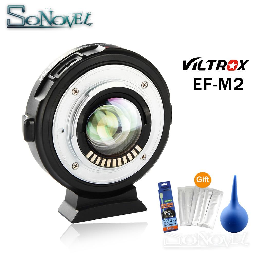 Viltrox EF-M2 AF Auto-focus EXIF 0.71X Réduire la Vitesse Booster Lens Adapter Turbo pour Canon EF objectif à M43 Caméra GH4 GH5 EM5 E-M10