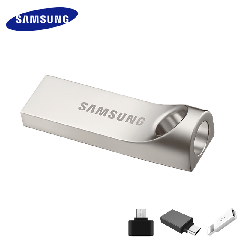 SAMSUNG USB Flash Drive Disk 32G 64G 128G 256GB USB 3.0 or 3.1 Metal Mini Pen Drive Pendrive Memory Stick Storage Device U Disk baseus 2in1 mfi certified u disk for iphone 5 6s 7 7s usb flash drive 64g pendrive usb2 0 memory stick phone usb flash u disk