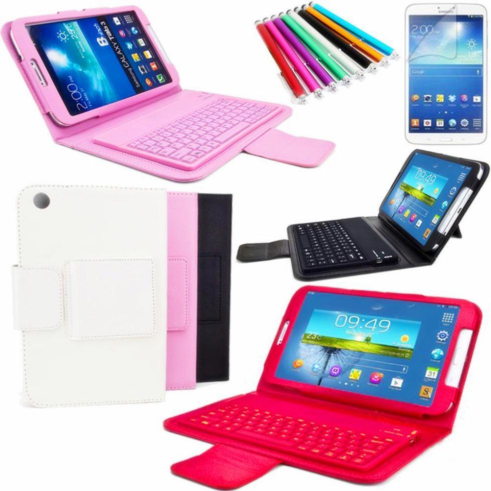 Новый Беспроводная <font><b>Bluetooth</b></font> Клавиатура Кремния стенд Case smart cover Для Samsung Galaxy Tab T310/T311 <font><b>tablet</b></font> PC