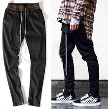 Высокое качество одежды известных slp лодыжки молния джастин бибер rockstar черный проблемные ripped тощий бог jeans hip hop