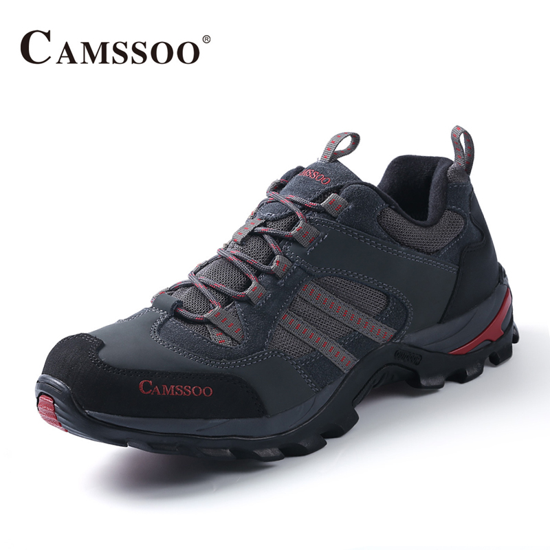 Camssoo Mountain Hiking Shoes Men High Quality Sneakers Lights Outdoor Breathable Trainers Size Eu 39-44 AA50170 glowing sneakers usb charging shoes lights up colorful led kids luminous sneakers glowing sneakers black led shoes for boys