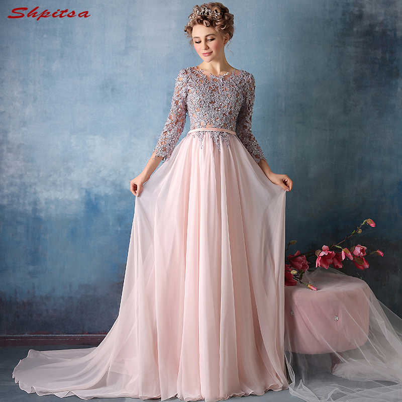 Pink Long Sleeve Mother Of The Bride Dresses For Weddings