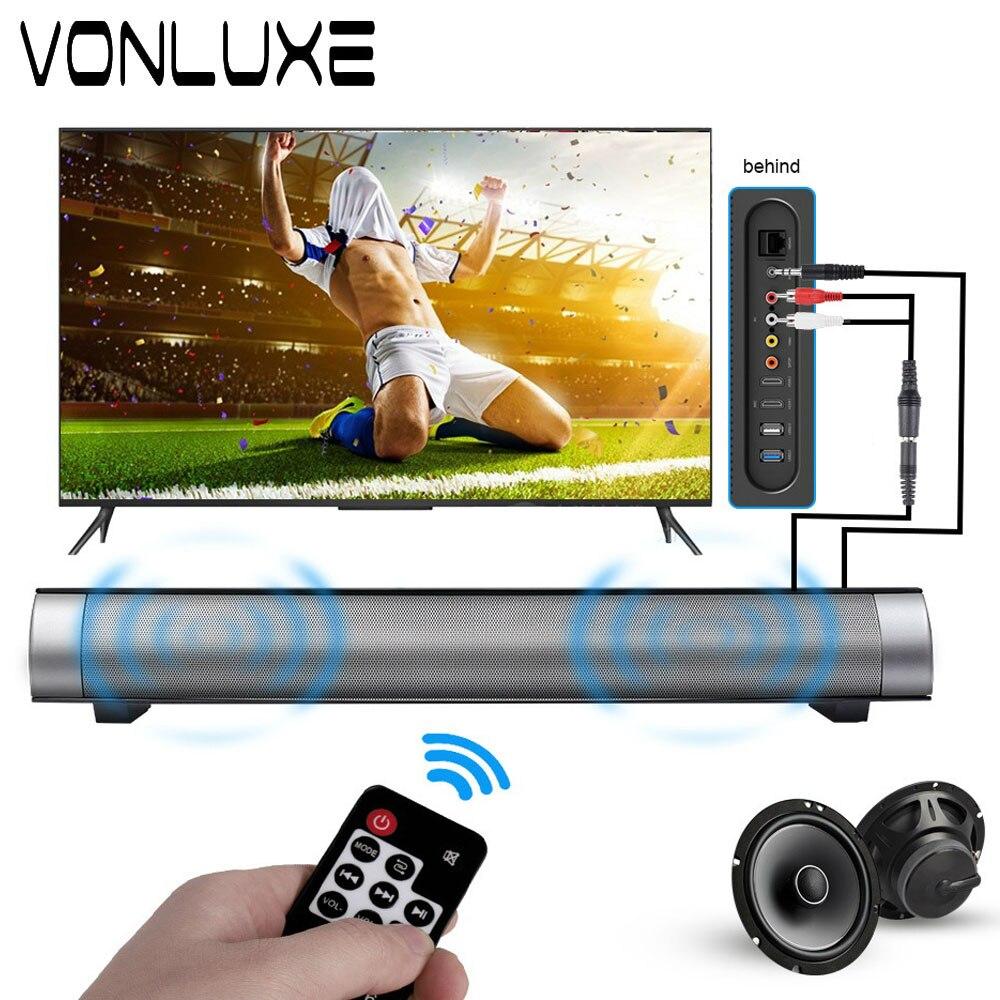 vonluxe bluetooth tv soundbar slim column wireless sound. Black Bedroom Furniture Sets. Home Design Ideas