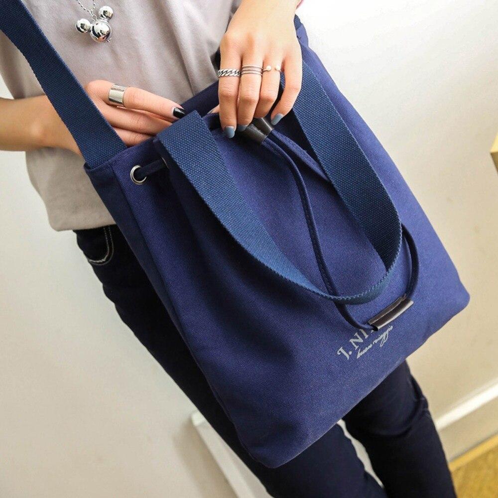 166fd907f4f 2017 New Korean Style Handbag Women s Shoulder Bag Fashion Casual Canvas Bags  Designer High Quality Large