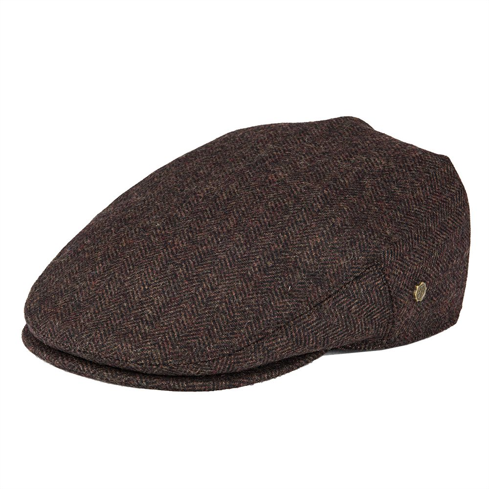 VOBOOM Wool Tweed Herringbone Flat Cap Newsboy Caps Boina Men Women Beret Classic Cabbie Driver Hat Golf Hunting Ivy Hats 200