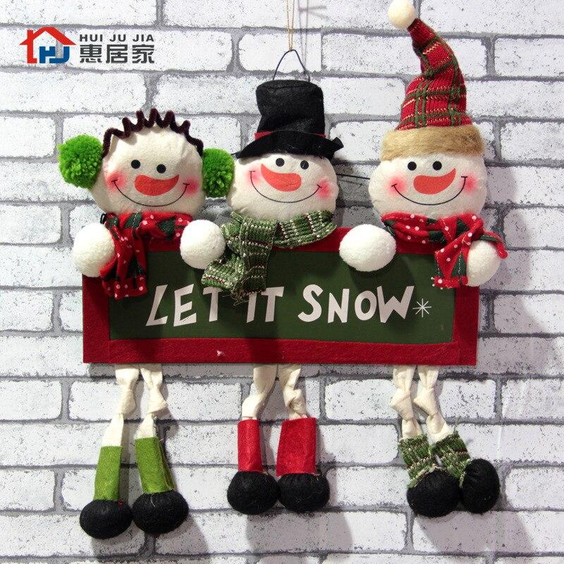 Gewebe Weihnachtsmann Weihnachtsschmuck Hängen Anhänger Brief Karten