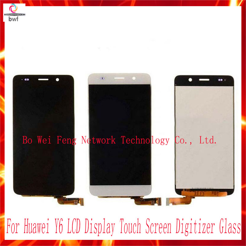 50Pcs/lot EMS DHL High Quality Assembly LCD Display Touch Screen Digitizer Glass For Huawei Y6 Free shipping+Tracking 50pcs lot ems dhl high quality lcd for