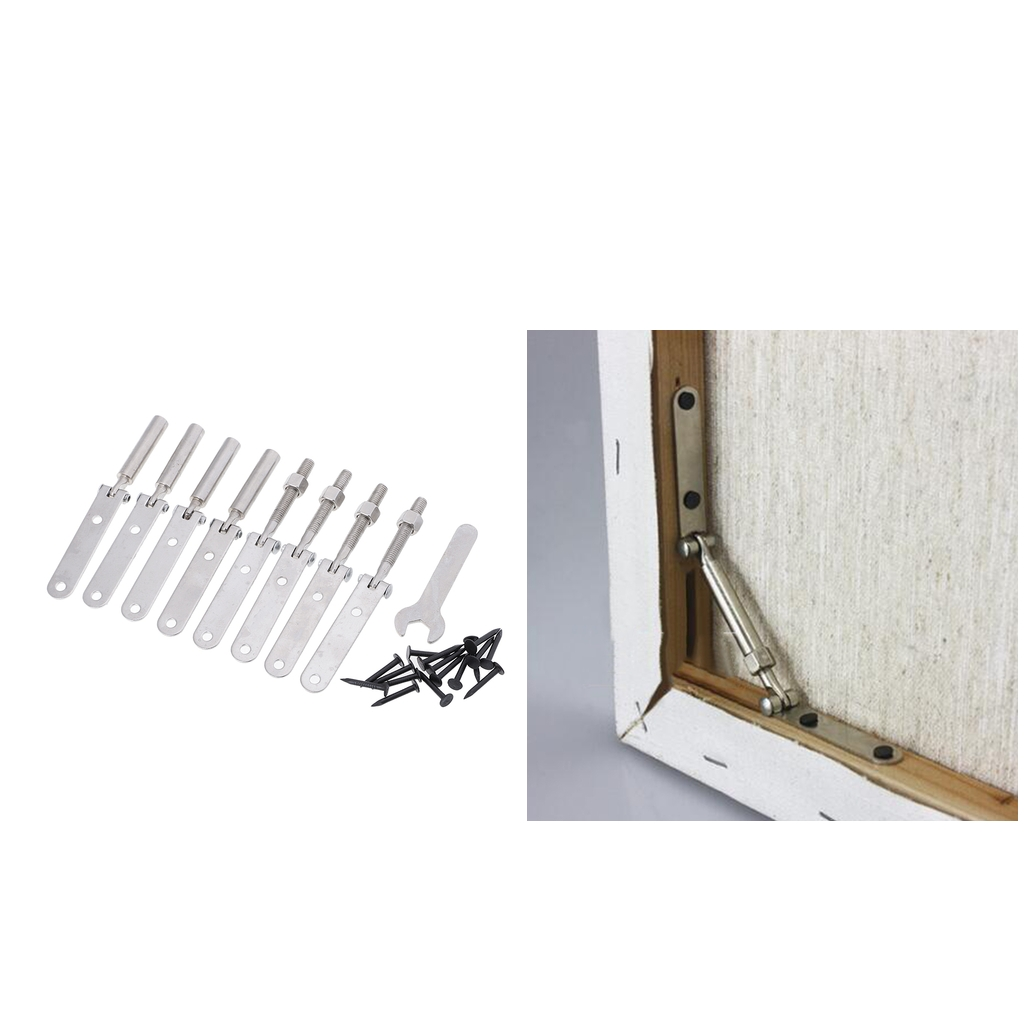 4 Sets Heavy Duty Stainless Steel Wood Canvas Frame Tensioner ...