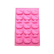 208afdba592 Chocolate Mold 15 Even KT Cat Fondant Silicone Super Cute Hello Kitty Cake  Baking Decoration Cooking