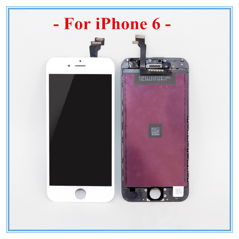10 PCS/LOT A+ Display For iPhone 6 LCD With Full Digitizer Assembly & Replacement White & Black Touch Screen DHL Free Shipping