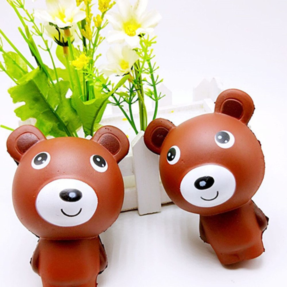 10cm Cute Bear Cartoon Scented Squishy Charm Slow Rising Squeeze Toy Charm funny gadgets electronicos for antistress