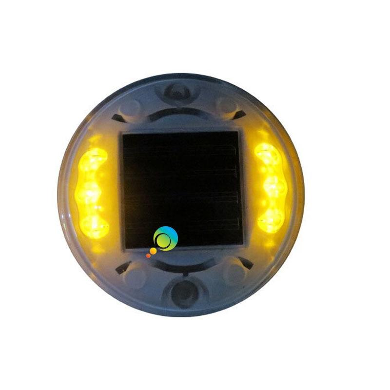 LED landscape High quality plastic housing yellow flashing led solar power road stud