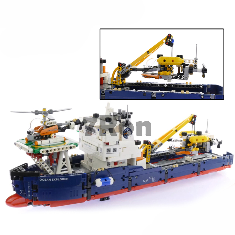 Models building toy 20034 1347pcs Searching Ship Set Building Blocks Compatible with lego Technic Series 42064 toys & hobbies lego technic исследователь океана 42064