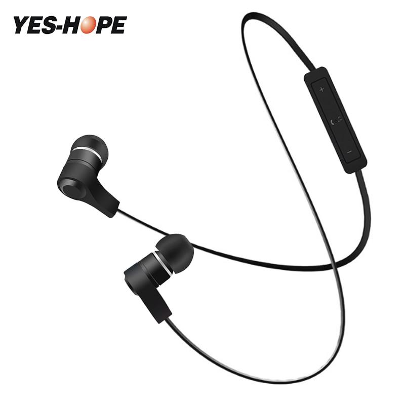 YES-HOPE bluetooth earphone waterproof wireless headphones sports bass bluetooth headphones with mic for phone iPhone xiaomi