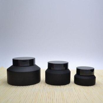 15G 30G 50G 100G Empty DIY Glass Cosmetic Cream Jar, Top Grade Black Glass Mask Refillable Container, DIY Facial Cream Box/Case