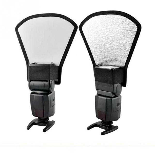 Studio Ảnh Phụ Kiện Universal Ngoài Trắng Bạc Đèn Flash Diffuser Softbox Reflector Cho Yongnuo Tất Cả Các Speedlite Đèn Speedlight Cải