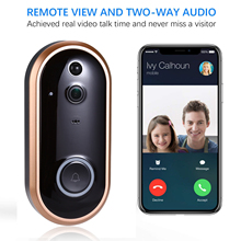 1080P Smart WIFI Doorbell Intercom Video Phone Ring Door Bell Camera IR Entry Door Alert Wireless Security Chime Door Cam Alarm apartment wired video door phone audio visual intercom entry system 6 unit