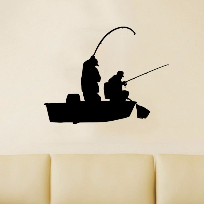 Creative Fishing Bass Trout Boat Fish Fisherman Graphic