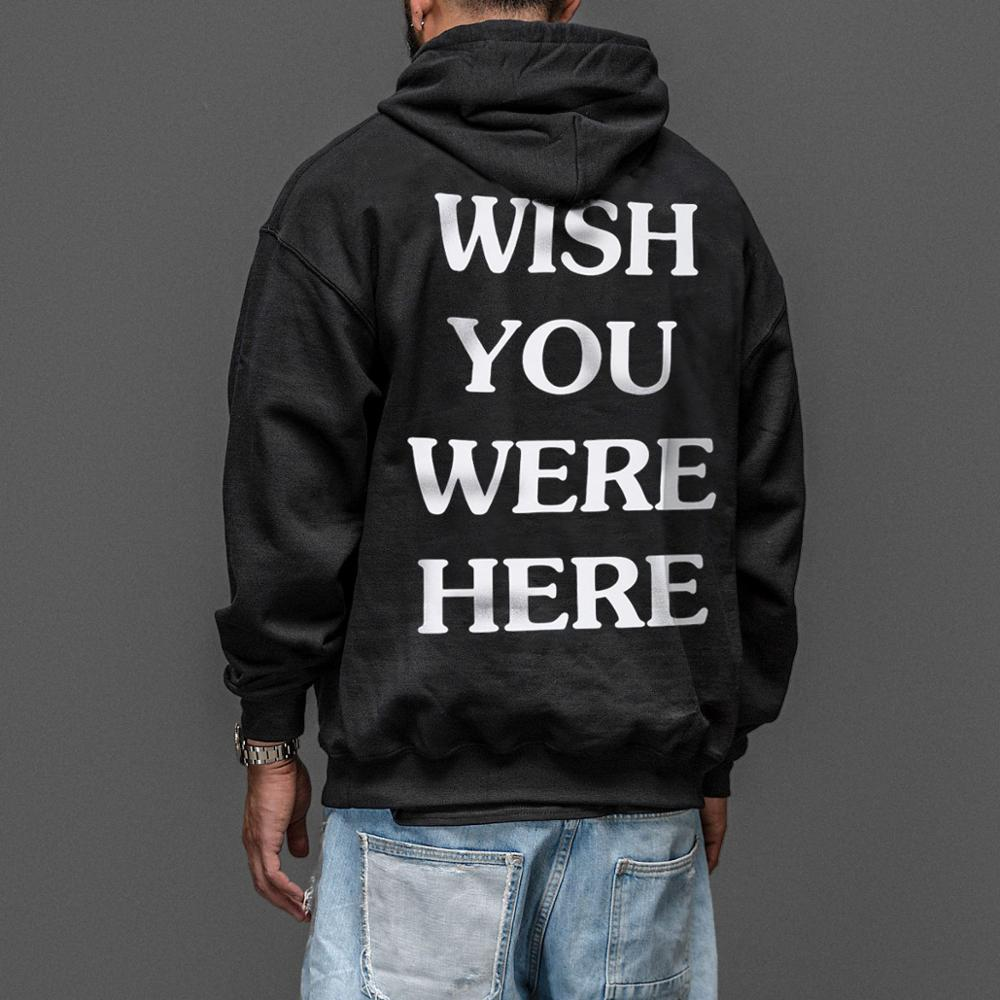 Image 2 - Travis Scotts ASTROWORLD Hoodies Man The Embroidery Letter Print Swag WISH YOU WERE HERE Hoodie Plus US Size S XXL-in Hoodies & Sweatshirts from Men's Clothing
