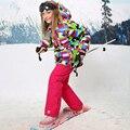 Para-30 Grau Conjunto Agasalho Esportivo À Prova D' Água À Prova de Vento de Esqui Jaket Sik Giirls Crianças Conjuntos de Roupas Crianças Outerwear Para 3-16 T