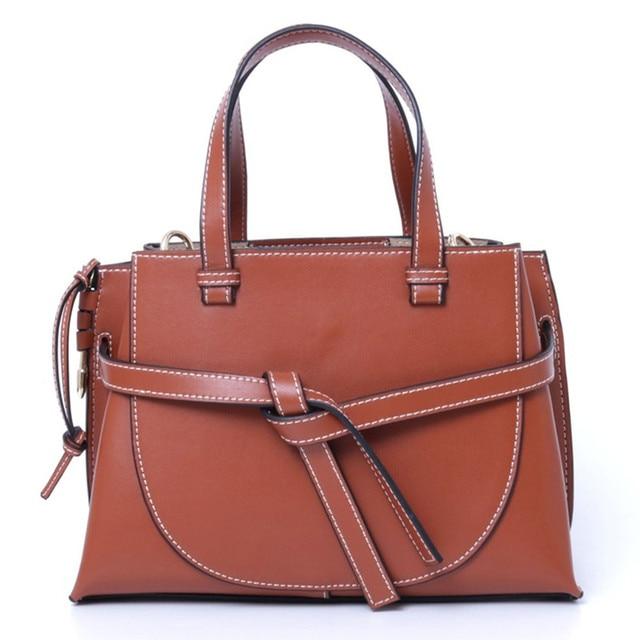 Luxury Real Leather Handbag Women Shoulder Bags Designer Bags Famous Brand Women Bags Mujer Bolsas 2018