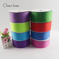 Wholesale 3 75mm Solid Grosgrain Ribbon DIY Hairbows Accessories Christmas Apparel Sewing Fabric Gifts Packing Wrap