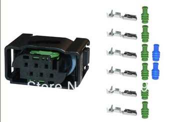 1-967616-1 wire female male cable connector Terminals 6 pin connector automotive Plugs sockets seal