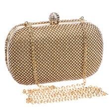 Luxus Diamant Abendtaschen Klassik Strass Tag Kupplung Für Dame Empfehlen für Alle Gold/Silber/Schwarz Kristall Tasche