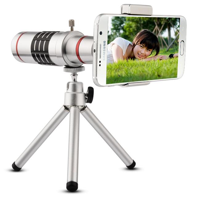 A LA VENTA! 18x teleobjetivo universal teléfono móvil zoom óptico de cámara del telescopio con el trípode para iphone htc huawei lg reproductor sumgung