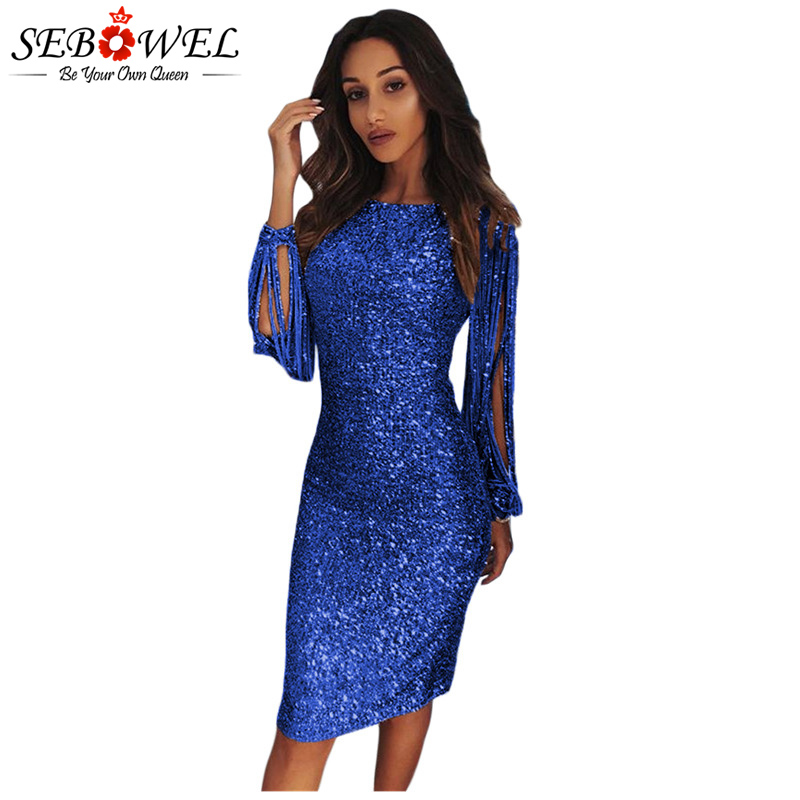 silver Picture Sleeve Long Bodycon Black Gold Women blue Shine Party Sexy Glitter Sequin Silver Gown Evening Sparkly Club Dress Sebowel as qH1Rw8zB