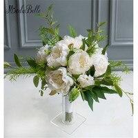 Modabelle Elegant Wedding Bukiety Ślubne Kwiaty Zielone Ivory Akcesoria Broszka Bukiet Sztuczne Bride Wedding Photography