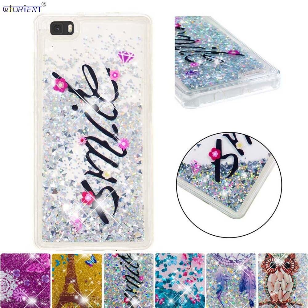 Loyal For Huawei P8 Lite Bumper Case Ale-l21 Ale-l23 Ale-l02 Ale-l04 Cute Glitter Dynamic Liquid Quicksand Soft Silicone Full Cover Pure Whiteness Phone Bags & Cases