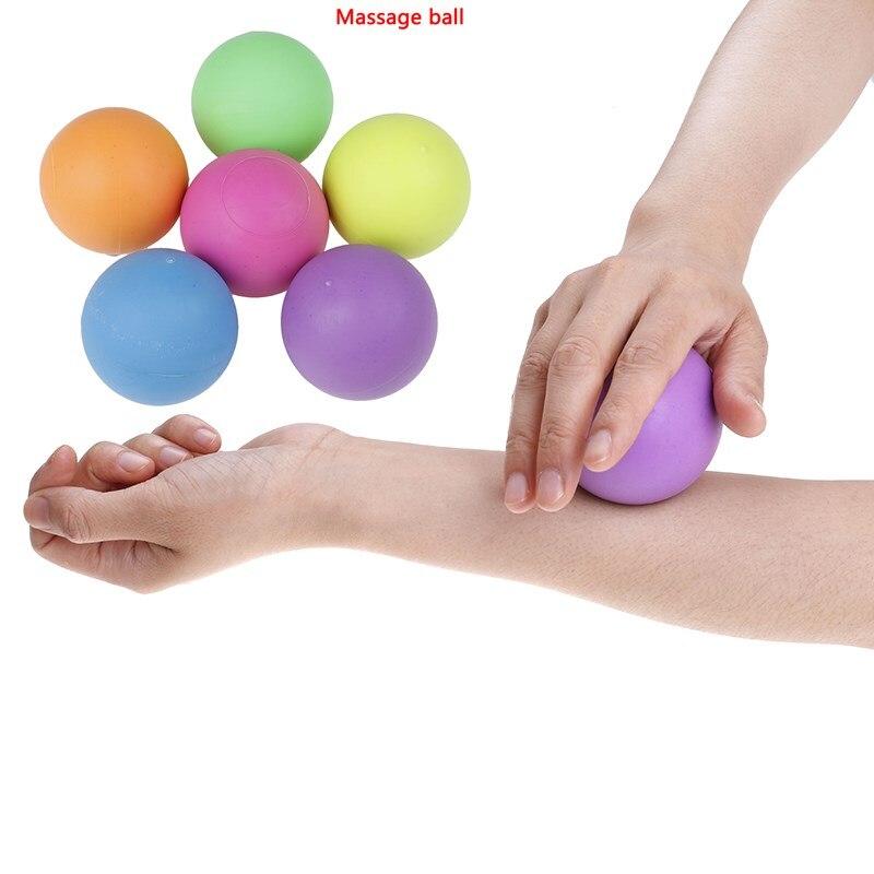 ①  1 шт. Йога фитнес массаж мяч TPE резиновая точка триггера релаксации сам массаж ✔